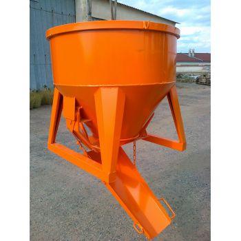 Koš na beton typ 1091S - výpust skluzavka